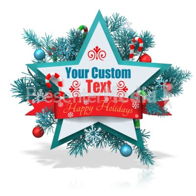 Custom Christmas Star Banner Presentation clipart