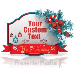 ID# 15956 - Custom Christmas Shape Banner - Presentation Clipart