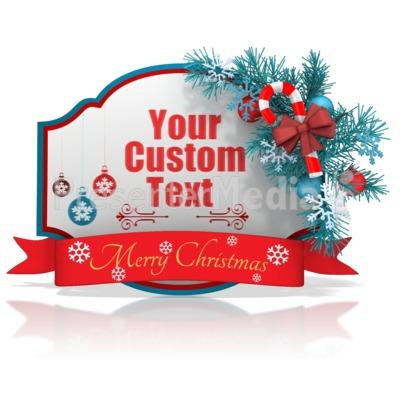 Custom Christmas Shape Banner Presentation clipart
