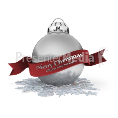 Christmas Ornament Banner Presentation clipart