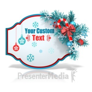 ID# 15960 - Custom Festive Christmas Shape - Presentation Clipart