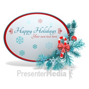 ID# 15962 - Custom Festive Christmas Sphere - Presentation Clipart