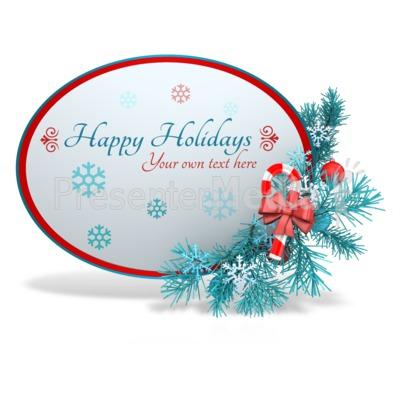 Custom Festive Christmas Sphere Presentation clipart
