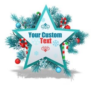 ID# 15963 - Custom Festive Christmas Star - Presentation Clipart