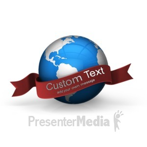 ID# 15976 - Blue Earth Custom Banner - Presentation Clipart