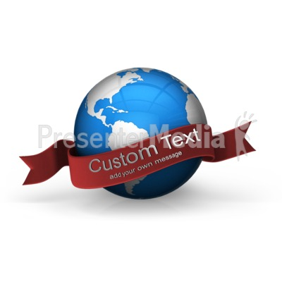 Blue Earth Custom Banner Presentation clipart