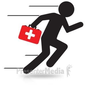 ID# 15978 - Figure Medical Run - Presentation Clipart