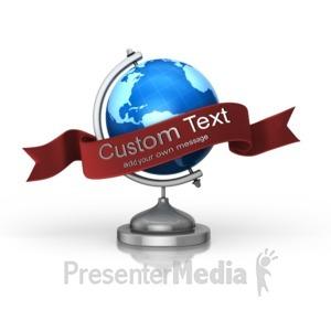 ID# 15981 - Globe Custom Banner - Presentation Clipart