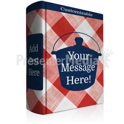 Custom Cookbook Presentation clipart