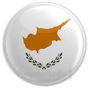ID# 16003 - Cyprus Badge - Presentation Clipart