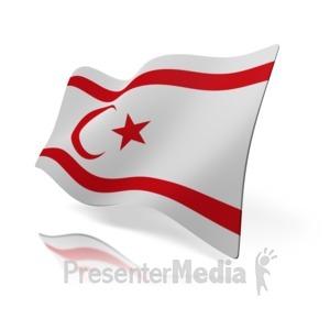 ID# 16004 - Northern Cyprus Flag - Presentation Clipart