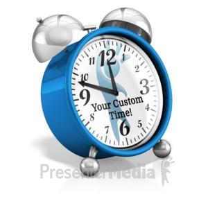 ID# 16007 - Custom Clock Hands - Presentation Clipart