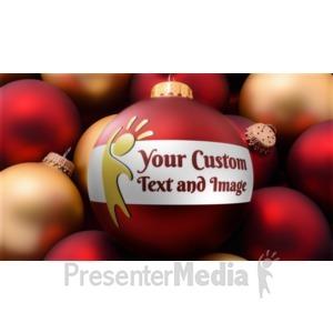 ID# 16036 - Red Gold Bulbs Custom - Presentation Clipart