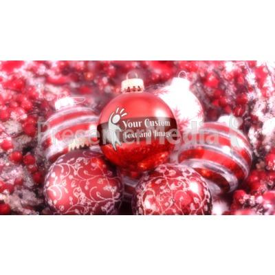 Red White Sparkle Custom Presentation clipart