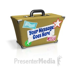 ID# 16060 - Custom Suitcase - Presentation Clipart