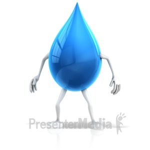 ID# 16071 - Water Drop Character - Presentation Clipart