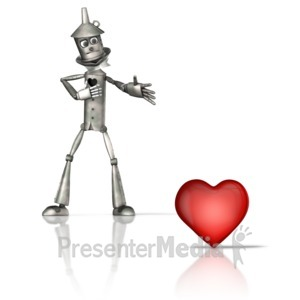 ID# 16087 - Tin Figure Missing Heart - Presentation Clipart