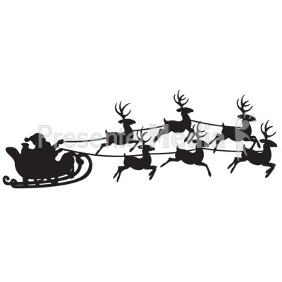 Santas Reindeer Sleigh Ride - Presentation Clipart - Great Clipart ...