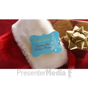 ID# 16109 - Stocking Present Custom - Presentation Clipart