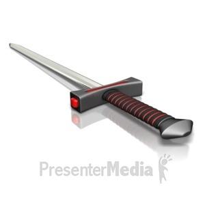 ID# 16114 - A Sword - Presentation Clipart