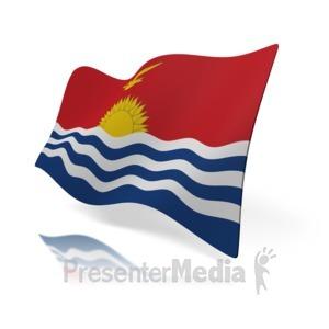 ID# 16123 - Kiribati Flag - Presentation Clipart