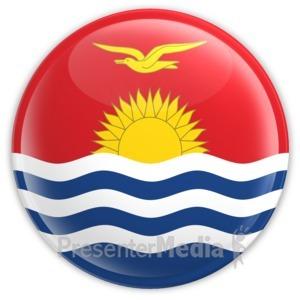 ID# 16129 - Kiribati Badge - Presentation Clipart
