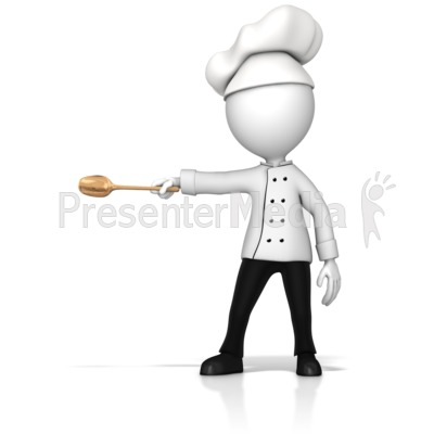 Chef Gesturing To The Side PowerPoint Clip Art