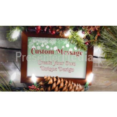 Garland Frame Custom Presentation clipart
