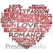 ID# 16158 - Heart Made Of Words - Presentation Clipart