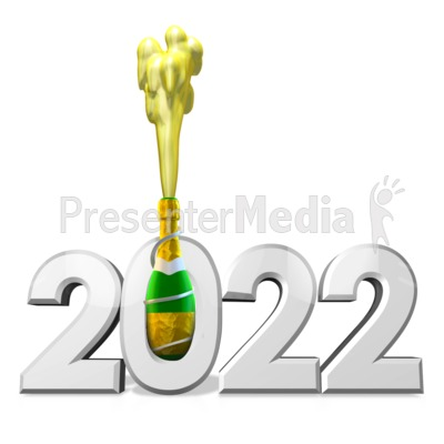 Champagne Celebration Custom PowerPoint Clip Art