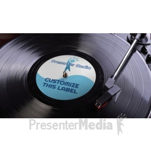 ID# 16174 - Lp Record Label Custom - Presentation Clipart