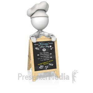 ID# 16179 - Custom Chef Sign - Presentation Clipart