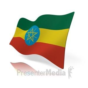 ID# 16181 - Ethiopia Flag - Presentation Clipart