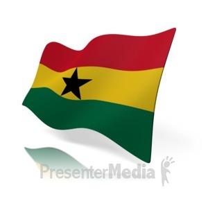 ID# 16187 - Ghana Flag - Presentation Clipart