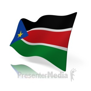 ID# 16194 - South Sudan Flag - Presentation Clipart