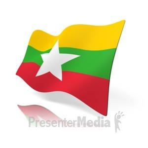 ID# 16197 - Myanmar Flag - Presentation Clipart