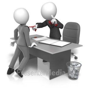 ID# 16198 - Workplace Grabbing Tie - Presentation Clipart