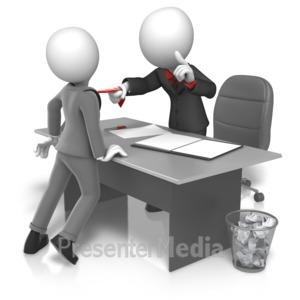 ID# 16198 - Workplace Grabbing Tie - Presentation Clipart