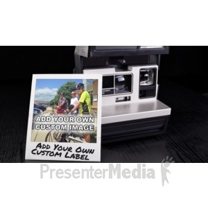 ID# 16200 - Instant Photo Memory Custom - Presentation Clipart