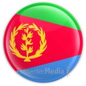 ID# 16209 - Eritrea Badge - Presentation Clipart