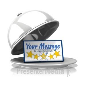 ID# 16247 - Silver Platter Custom Message - Presentation Clipart