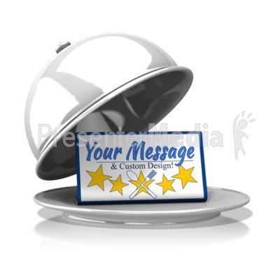 Silver Platter Custom Message Presentation clipart
