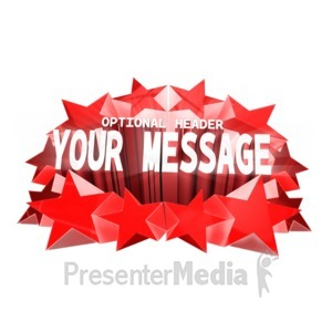 ID# 16252 - Extruded Stars And Text Custom - Presentation Clipart