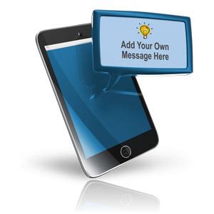 ID# 16260 - Smart Phone Custom Text Block - Presentation Clipart