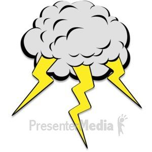 ID# 16284 - Lightning Cloud - Presentation Clipart