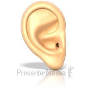 ID# 16285 - An Ear - Presentation Clipart