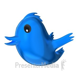 ID# 16302 - Social Media Bird - Presentation Clipart