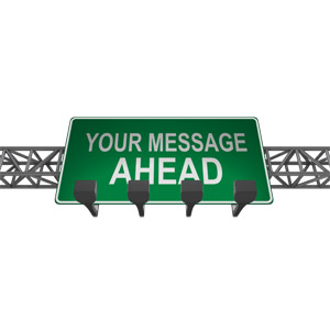 ID# 16324 - Overhead Freeway Custom Sign - Presentation Clipart