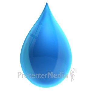ID# 16365 - Single Water Drop - Presentation Clipart