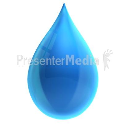 Single Water Drop PowerPoint Clip Art